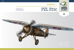 PZL P.11c Polish fighter JUNIOR SET 1/72