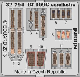 Messerschmitt Bf 109G-6 seatbelts REV 1/32