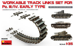 Panzer III / IV track links (early) 1/35