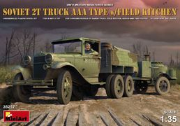 Soviet GAZ-AAA truck with field kitchen 1/35