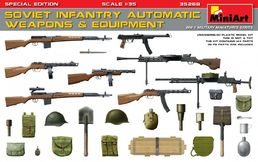 WW2 Soviet infantry automatic weapons and equipment 1/35