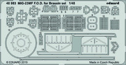 MiG-23MF F.O.D. for Brassin set  1/48  EDUARD