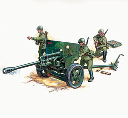 Soviet Gun ZIS-3 with Crew 1/72 SNAP