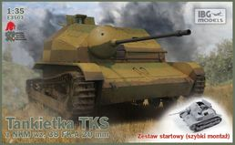 TKS Polish Tankette with 20mm gun (with easy tracks) 1/35