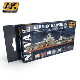 GERMAN WARSHIPS COLORS SET - AKRYYLI