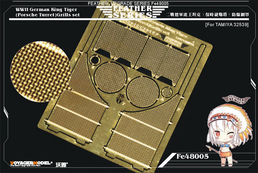 WWII German King Tiger (Porsche Turret) Grills set (TAMIYA 32539) 1/48