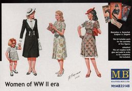 Civilian Women of WWII era 1/35