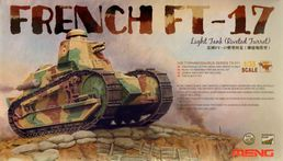 French light tank Renault FT-17 (riveted turret) 1/35