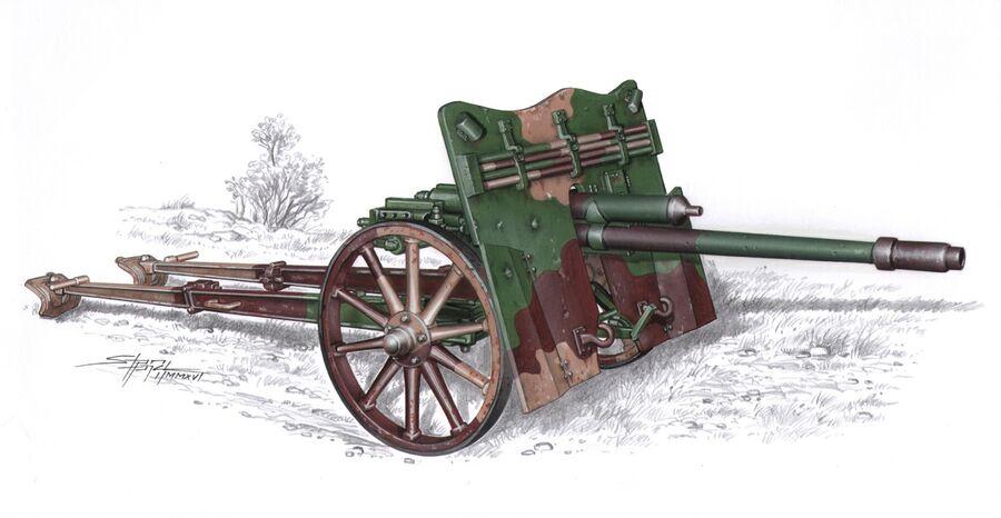 German 50 Mm Anti Tank Gun: 3,7 Cm PAK 37(t) Anti-tank Gun 1/35