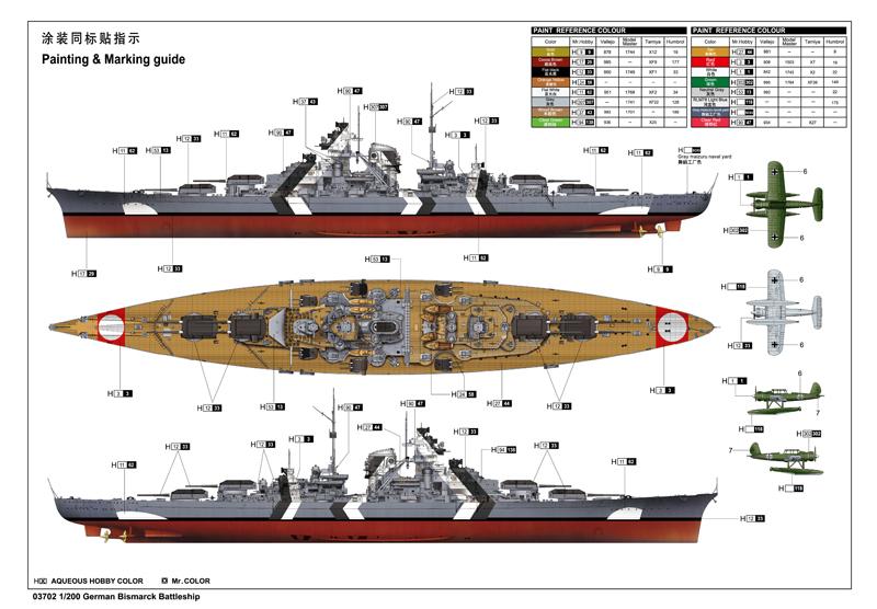 Bismarck 1 200 Kuivalainen Pienoismalleja
